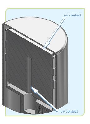 Standard Electrode Coaxial Ge Detectors (SEGe)